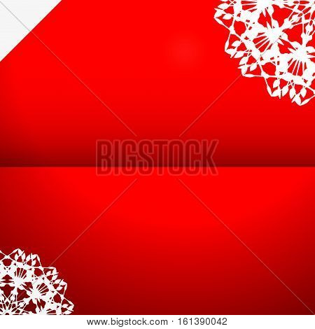 greeting card with snowflake / abstract vector illustration design element