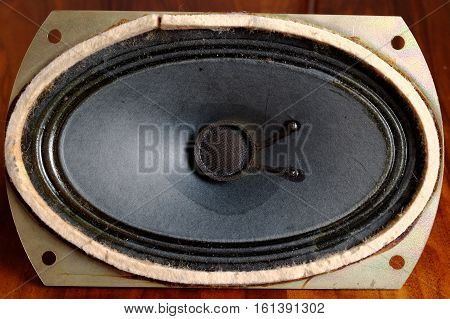 view from above on the old speaker