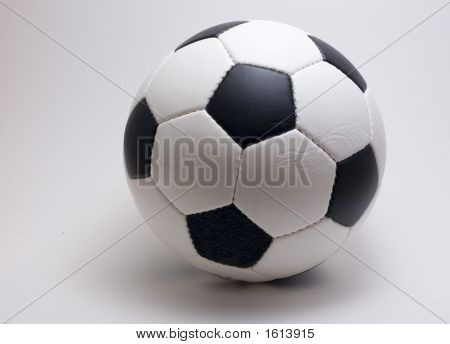 Soccer Ball On A White Backround