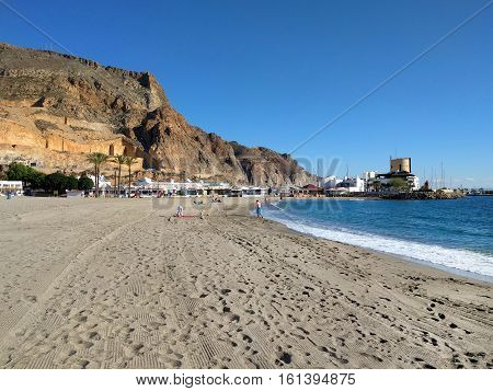 Aguadulce beach. Aguadulce is a spanish locality of Roquetas de Mar province of Almeria. Spain