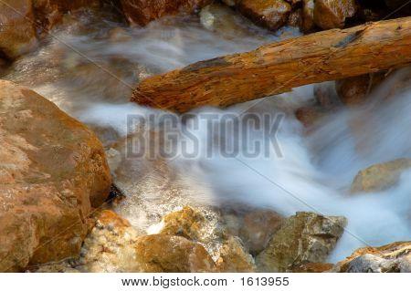 Creek Frozen In Time