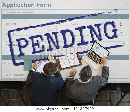 Pending Stamp Application Form Concept
