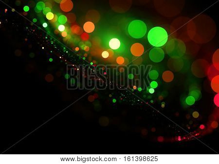 Christmas blurry bokeh lights background texture