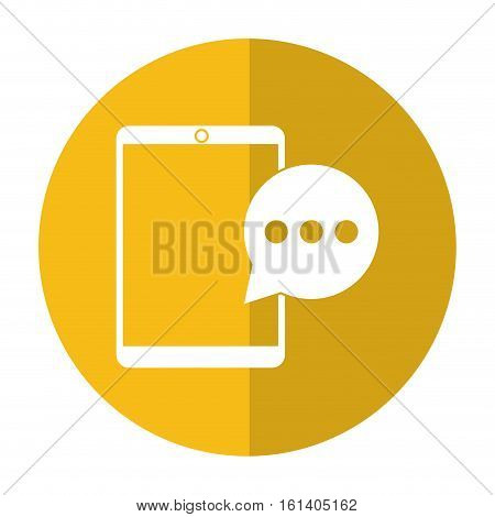 mobile device bubble speech dialog shadow vector illustration eps 10