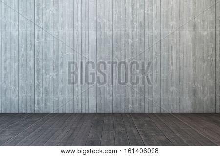empty wooden room, 3d rendering