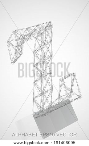 Abstract illustration of a Pencil sketched Z with Reflection. Hand drawn 3D Z for your design. EPS 10 vector illustration.