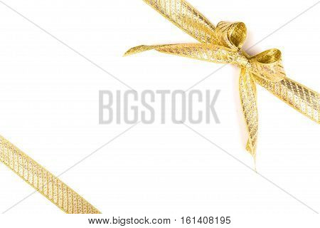 Gift ribbon with bow isolated on white