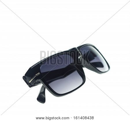Fashion of sunglasses  isolated on white background texture