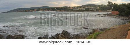 Sainte Maxime Sea Bay From Saint Aygulf, Saint Raphael And Frejus, Azur Coast, South Of France