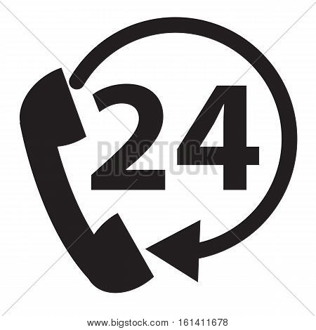 telephone support icon on white background. telephone support symbol.
