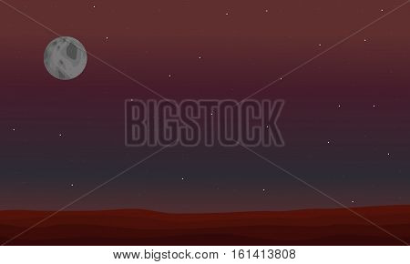 Illustration of beautiful space landscape collection stock