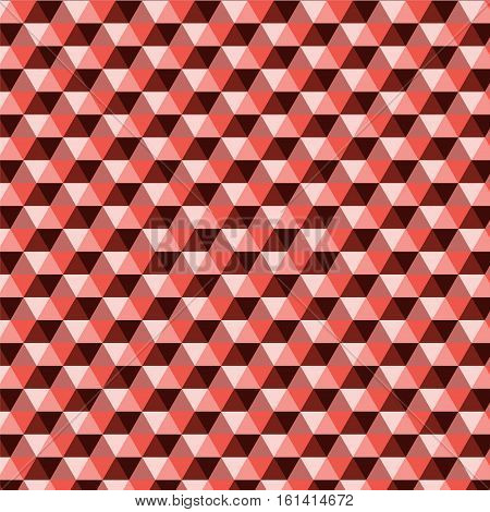 red shade in triangle pattern background vector illustration image