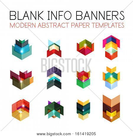 Business infographics templates. For banners, business backgrounds and presentations