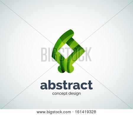 abstruse shape logo template, abstract business icon