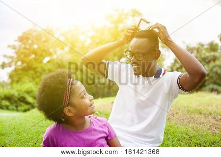 African American Family Playing With House Model - Aiming To Buy House, Future House Investment