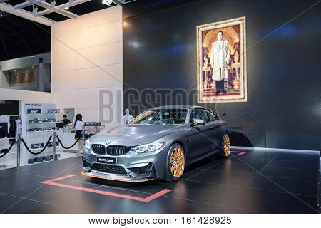 BANGKOK - November 30: BMW M4 GTS Coupe car on display at Motor Expo 2016 on November 30 2016 in Bangkok Thailand.