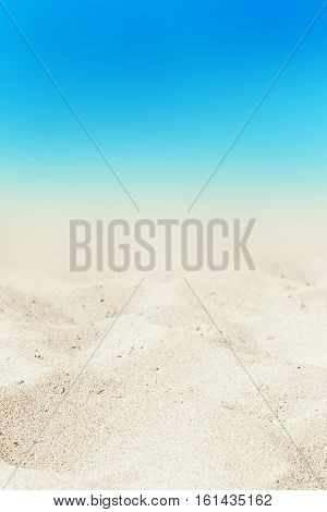 Turquoise sea and white sand background at summer day. Sandy beach wall paper