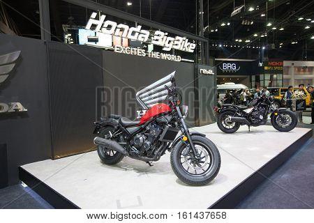 BANGKOK - November 30: Honda Big Bike motorcycle on display at Motor Expo 2016 on November 30 2016 in Bangkok Thailand.