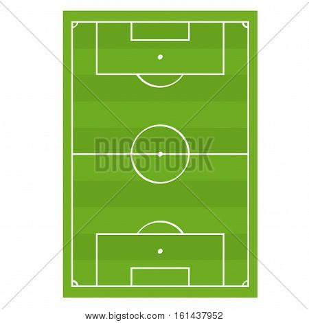 Soccer Football Game Field Top View. Competition Play Team for Sports and Leisure Vector illustration