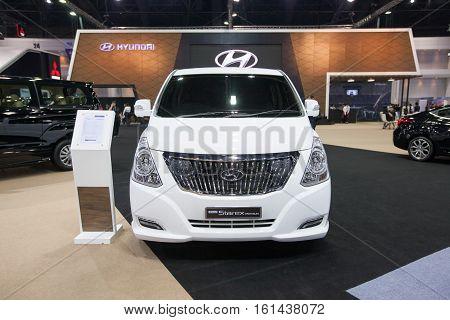 BANGKOK - November 30: Hyundai Grand Starex premium car on display at Motor Expo 2016 on November 30 2016 in Bangkok Thailand.