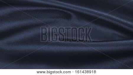 Smooth Elegant Dark Grey Silk Or Satin Texture As Abstract Background. Luxurious Background Design