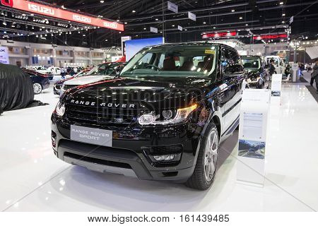 BANGKOK - November 30: Range Rover Sport car on display at Motor Expo 2016 on November 30 2016 in Bangkok Thailand.