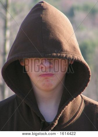 Hooded Male Teenager