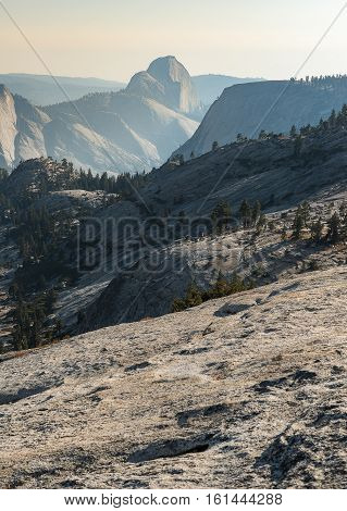 View behind of Half Dome from Olmsted Point, Yosemite National Park