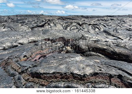 Lava Field In Hawaii