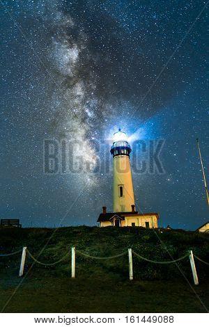 Milky Way Over Pogeon Point Lighthouse