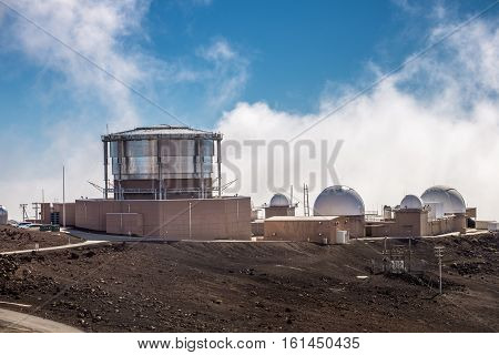 Haleakala Observatory on the mountain Maui Hawaii USA