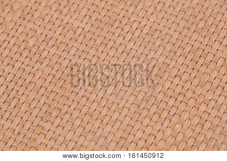 Rattan place mat texture for background close-up image.