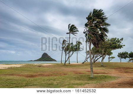 China man's Hat island in Hawaii USA