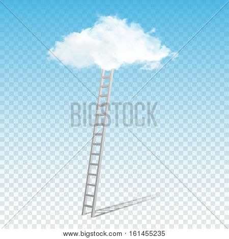 Ladder to the clouds concept image .