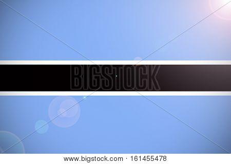 Botswana flag ,Botswana national flag illustration symbol.