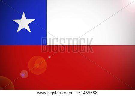 Chile flag , Chile national flag illustration symbol.
