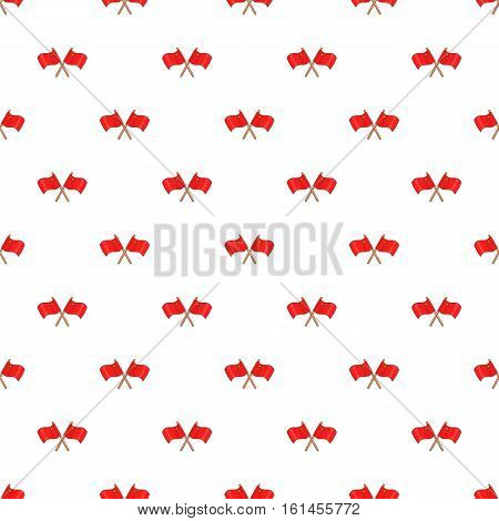 Crossed flags of China pattern. Cartoon illustration of crossed flags of China vector pattern for web