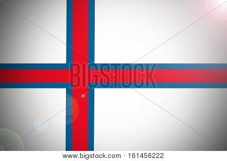 Faroe islnads flag illustration symbol. Faroe islnads flag
