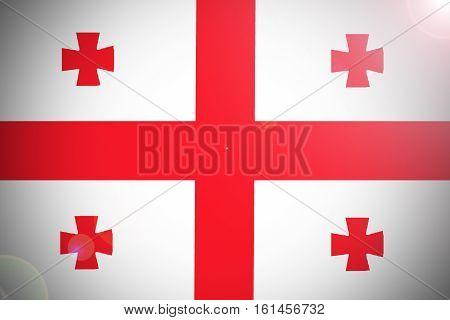Georgia flag Georgia national flag illustration symbol.
