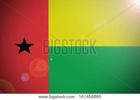 Guinea Bissau national flag illustration symbol. .