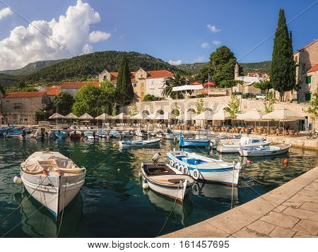 Harbour at Bol Village on Brac Island, Croatia