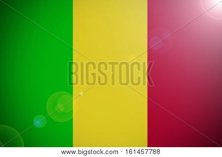 Mali national flag illustration symbol. Mali flag.