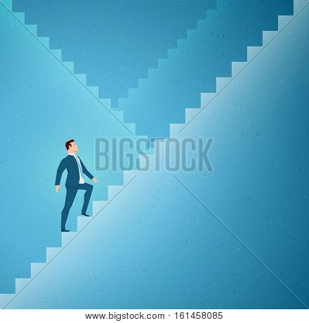 Business concept vector illustration. Success, steps concept. Elements are layered separately in vector file.