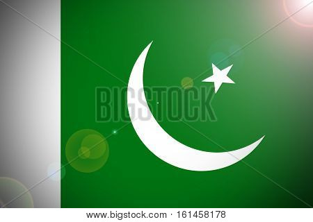 Pakistan flag ,3D Pakistan national flag illustration symbol.