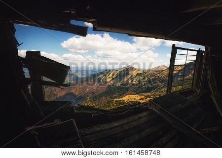 Abandoned Hut in Mala Fatra National Park Slovakia