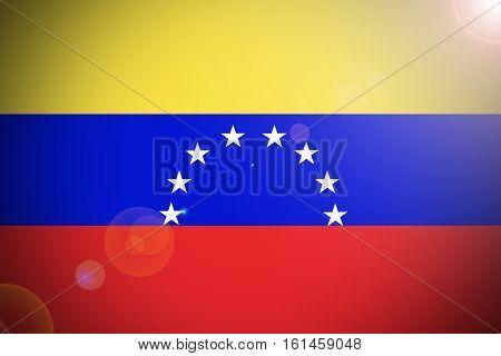 Venezuela  flag ,3D Venezuela national flag illustration symbol.