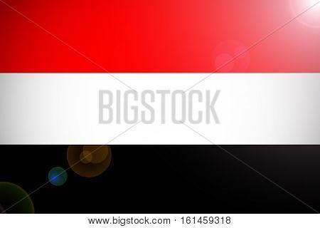 Yemen national flag illustration symbol .yemen flag