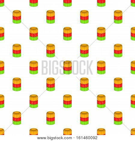 Tastes of electronic cigarette pattern. Cartoon illustration of tastes of electronic cigarette vector pattern for web