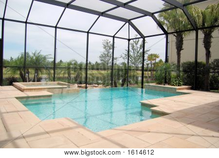 Swimming Pool With Cage
