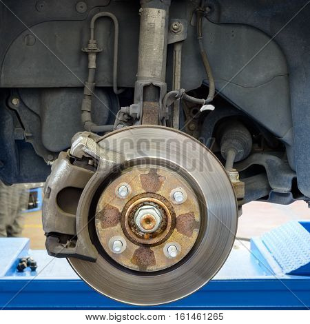 Car brakes and part of idraulic stuff and shock absorber